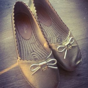 Kate Spade ♠️ RARE Linds II Gold Espadrille Shoes